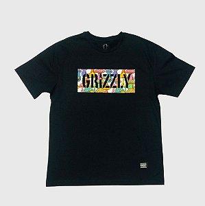 Camiseta Grizzly Fungi Box Preto