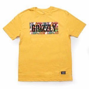 Camiseta Grizzly Fungi Box Amarelo