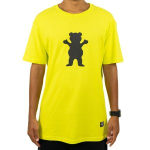 Camiseta Grizzly OG Bear Safety Green / Verde Masculina