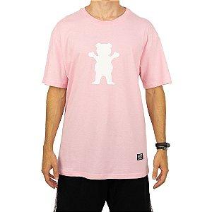 Camiseta Grizzly Og Bear Rosa Masculino