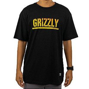 Camiseta Grizzly Stamp Fadeway Preta