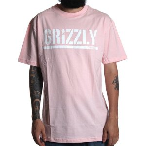 Camiseta Grizzly Stamp Rosa