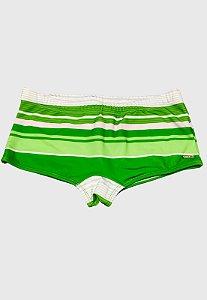 Sunga Sungão Radical Wave Listrada Verde Escuro com Branco Original