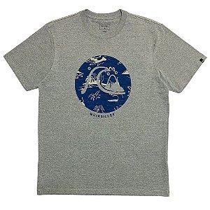Camiseta Quiksilver Bubble Jam  Cinza Masculina