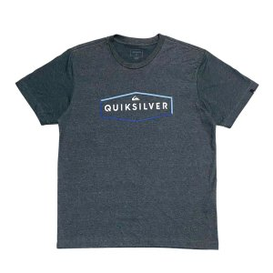 Camiseta Quiksilver Clear Mind Cinza Escuro Masculina