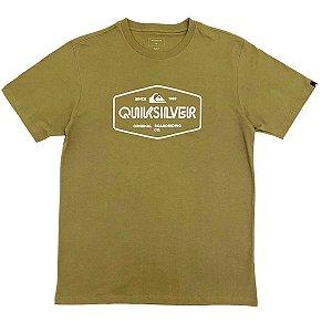 Camiseta Quiksilver Light Burn Verde Militar Masculina
