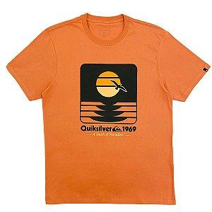 Camiseta Quiksilver Sunset Now Rosa Masculina