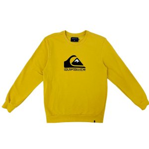 Moletom Quiksilver Care Square Me Up Amarelo Masculino
