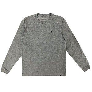 Camisa Quiksilver Manga Longa Transfer Cinza Medio Mescla Masculina
