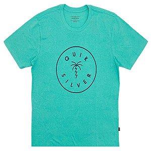 Camiseta Quiksilver Manga Curta Lash Out Verde Masculina