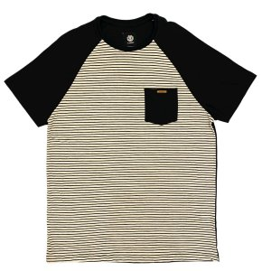 Camiseta Element Pocket Stripe Preta Masculina