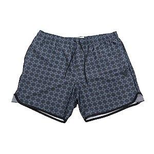Shorts Diamond Checkered Cross Preto Masculino