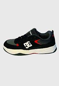 Tênis Dc Shoes Penza Imp Cinza/ Preto/ Vermelho Masculino