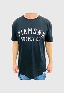 Camiseta Diamond Stencil Preta Masculina