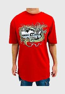 Camiseta DGK Black Metak Vermelha Masculina