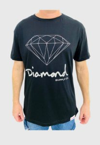 Camiseta Diamond Og Sign Preta Masculina