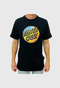 Camiseta Santa Cruz Contra Dot Pop Preta Masculina
