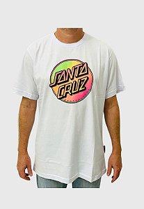 Camiseta Santa Cruz Contra Dot Pop Branca Masculina