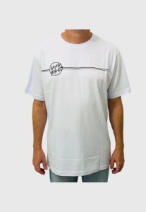 Camiseta Santa Cruz Bogus Hand  Branca Masculina