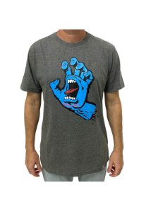 Camiseta Screaming Hand Chumbo Mescla Masculina