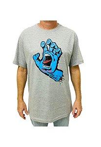 Camiseta Screaming Hand Cinza Mescla Masculina
