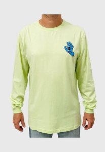 Camiseta Santa Cruz Manga Longa Screaming Hand LS Verde Masculina