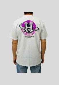 Camiseta Huf Silk Gigs Melted Branca Masculina