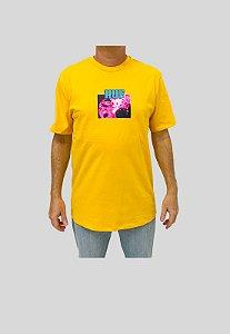 Camiseta Huf Silk Face Melter Amarelo Masculina