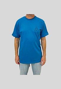 Camiseta Huf Silk Esentials TT Azul Turquesa Masculina
