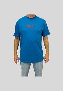 Camiseta Huf Silk Ghuf Type Azul Turquesa Masculina