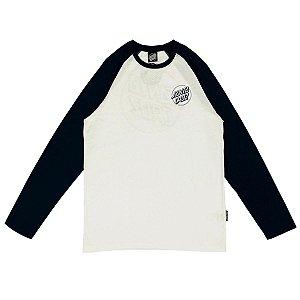 Camisa Santa Cruz Manga Longa Raglan Outline Dot Masculina