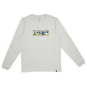 Camisa Quiksilver Manga Longa Branca Masculina