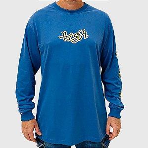 Camiseta High Manga Longa Junglist Azul
