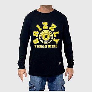 Camiseta Grizzly Manga Longa Homecoming Preto