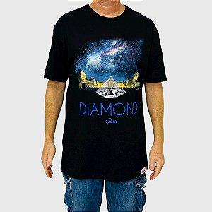 Camiseta Diamond Louvre Piramid Preta
