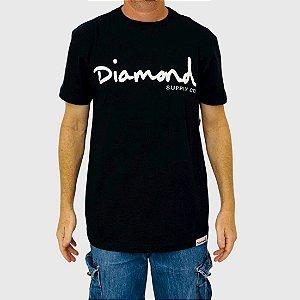 Camiseta Diamond Og Script Preta