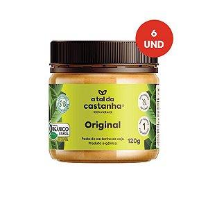 Pasta de Castanha Original Orgânica - 120g - Cx c/ 06 und