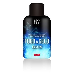 Óleo para massagem beijável FOGO E GELO - Beats