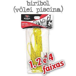 Rede para Vôlei Piscina Amarela Biribol - 5,00m (1, 2 e 4 Faixas)
