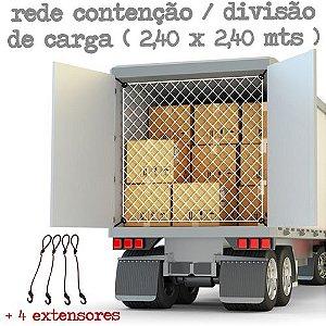Rede Contenção / Divisão de Carga (2,40 x 2,40 mts) + 4 Extensores