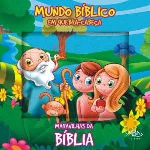 LIVRO MUNDO BIBLICO EM QUEBRA-CABECA MARAVILHAS DA BIBLIA TODO LIVRO