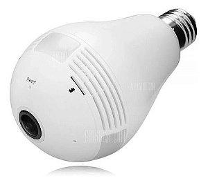 CAMERA SEGURANÇA LAMPADA 960P ESPIA WIFI 360 IPC360 DURAWELL