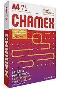 PAPEL SULFITE A4 75G CHAMEX CAIXA COM 10 RESMA