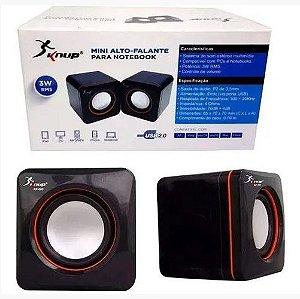 CAIXA SOM MINI 3W USB KP-600 KNUP KP-600
