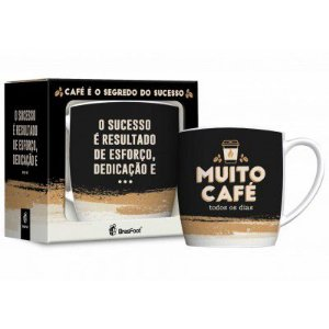 CANECA PORCELANA MUITO CAFE 360ML BRASFOOT