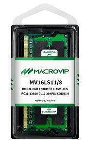 MEMORIA NOTEBOOK 8.0 GB DDR3L 1600 MACROVIP MV16LS11/8