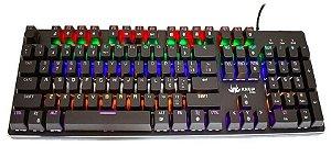 TECLADO USB GAMER MECANICO PRETO KNUP KP-2051/PL