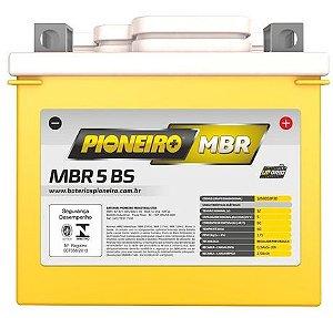 BATERIA PARA MOTO 5,0 A/H 12V PIONEIRO MBR5-BS CG 125/TTR230/NXR/POP