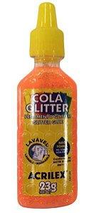COLA GLITTER 23G LARANJA ACRILEX