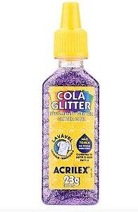 COLA GLITTER 23G LILAS ACRILEX